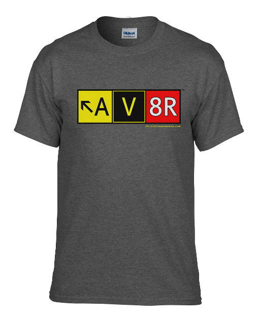 AV8R Airport Taxiway Sign Aviation Pilot T-Shirt